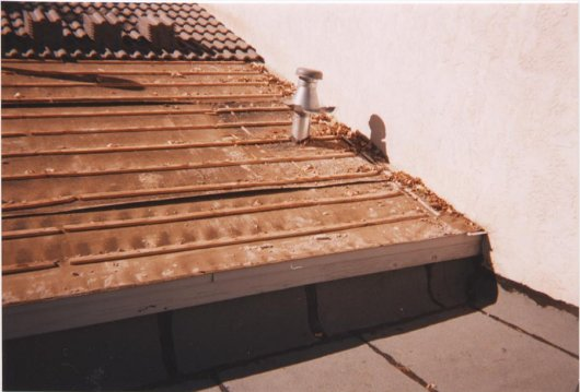 Concrete Roof Tile Eave To Rake Wall Installation