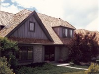 Staggered Cedar Shake Roof